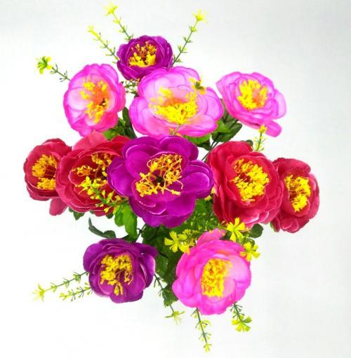 Искуственные цветы Пиончик микс декор 1019