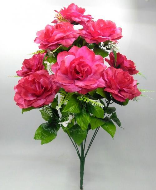 Искуственные цветы Роза 10-ка гигант 1020