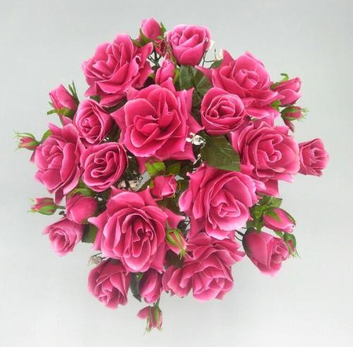Искуственные цветы Роза куст 24 головы 1022