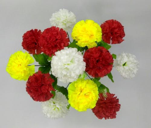 Искуственные цветы Гвоздика микс 13-ка 1029