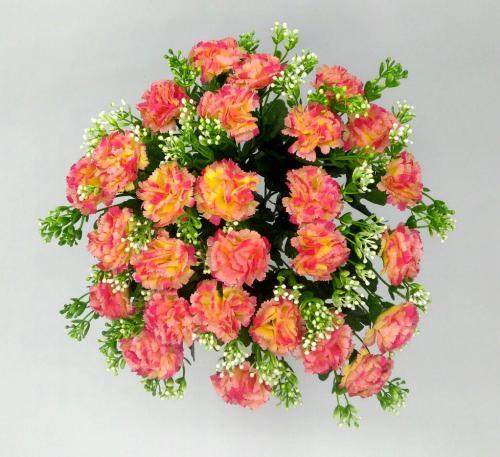 Искуственные цветы Гвоздика кущ 27 голов 1033