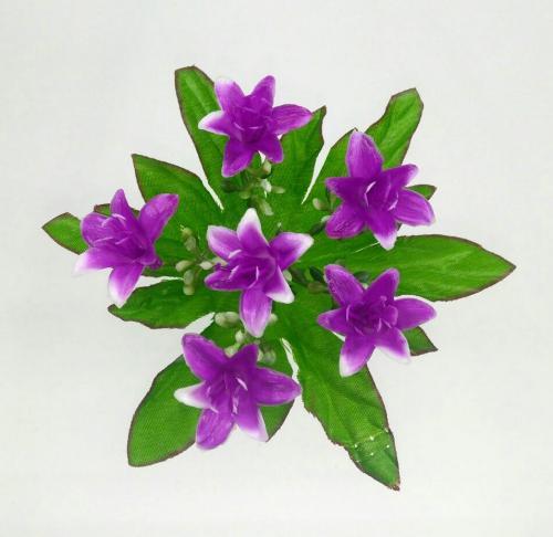 Искуственные цветы Колокольчик пластмасс 6-ка 1036