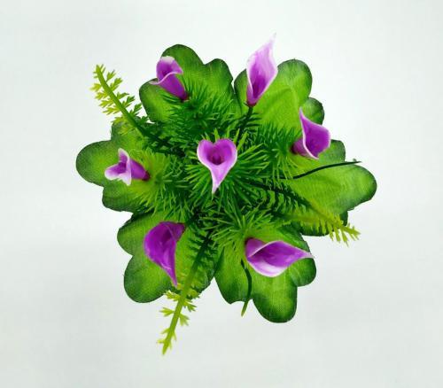 Искуственные цветы Кала пластик 7-ка 1042