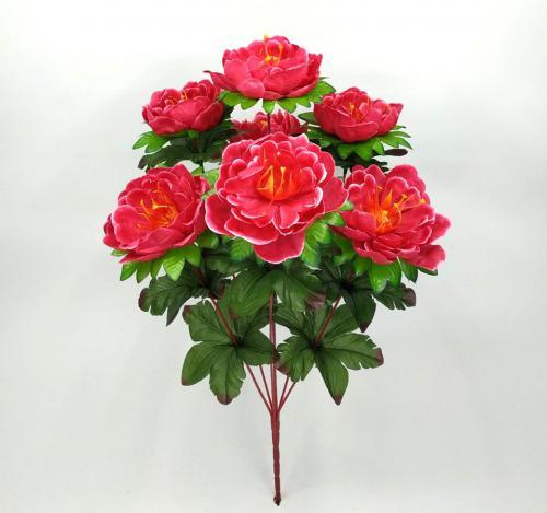 Искуственные цветы Пион лист Большой 7-ка 1044
