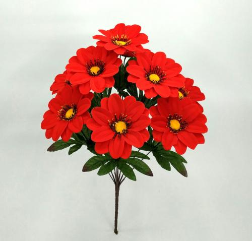 Искуственные цветы Ромашка бархат 9-ка 1046