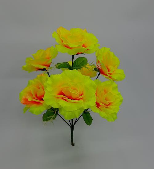 Искуственные цветы Роза 7-ка СР 1050