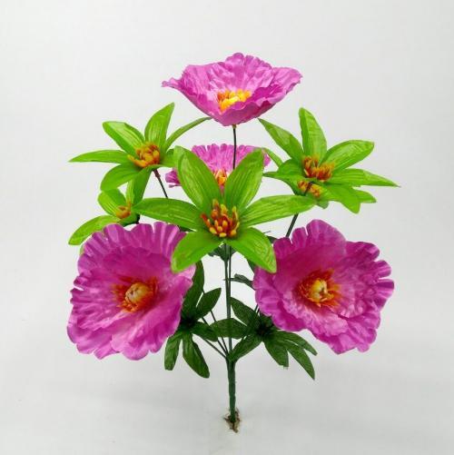 Искуственные цветы mak---miks-list 683