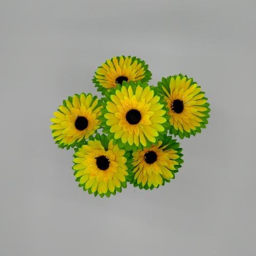Искуственные цветы gerberka-list-6-ka