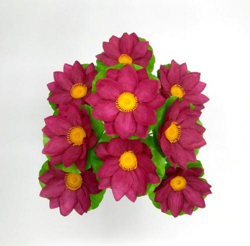 Искуственные цветы lotos-list-9-ka 793