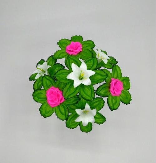 Искуственные цветы roza---liliya-plastmass