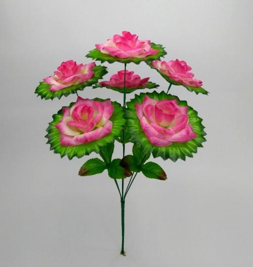 Искуственные цветы roza-6-ka-ne-pres 819