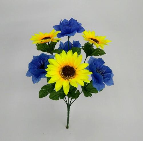 Искуственные цветы podsolnuh-voloshka 821