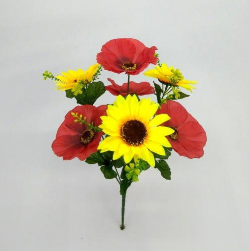 Искуственные цветы podsolnuh---mak 822