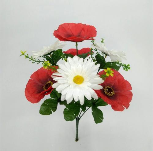 Искуственные цветы mak---romashka