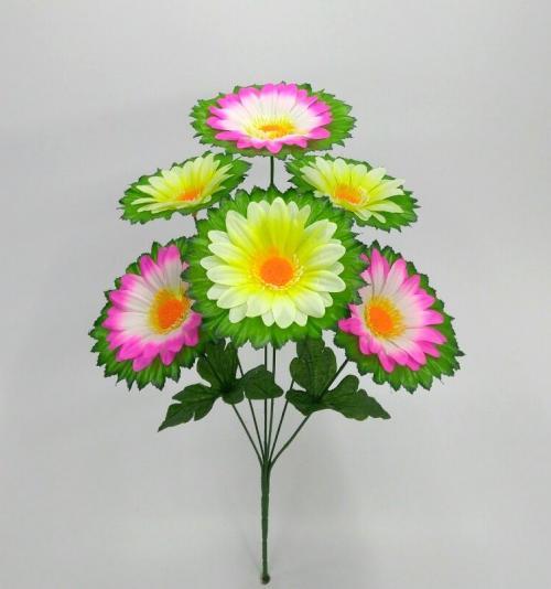 Искуственные цветы romashka-miks-list-6-ka