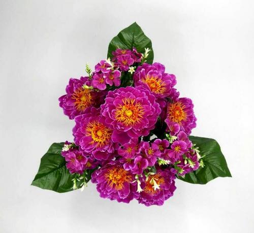 Искуственные цветы pion-dekor-s-detkami