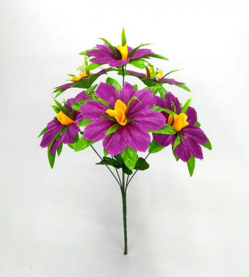 Искуственные цветы malva-list-ne-pressovka