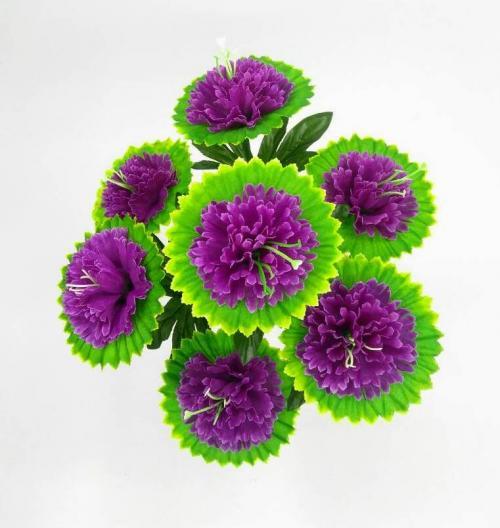 Искуственные цветы Гвоздика лист 7-ка Н 883
