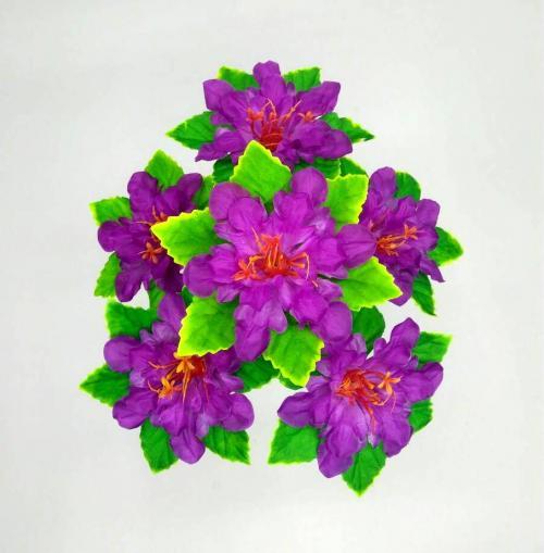 Искуственные цветы Мальва лист 6-ка 884