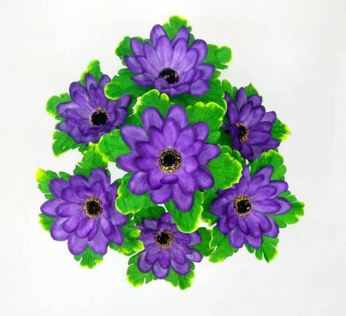 Искуственные цветы Герберка лист 7-ка 886