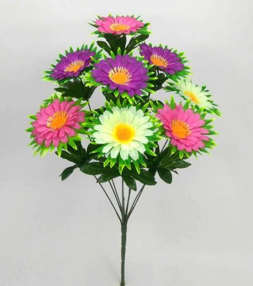 Искуственные цветы Ромашка микс лист 10-ка 887
