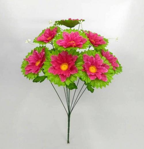 Искуственные цветы Ромашка лист 9-ка 889