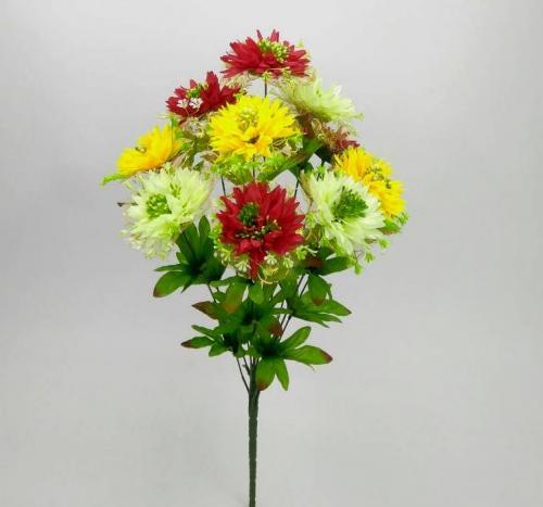 Искуственные цветы Резанная фатин 10-ка 893