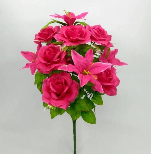 Искуственные цветы Роза - лилия 13-ка 894