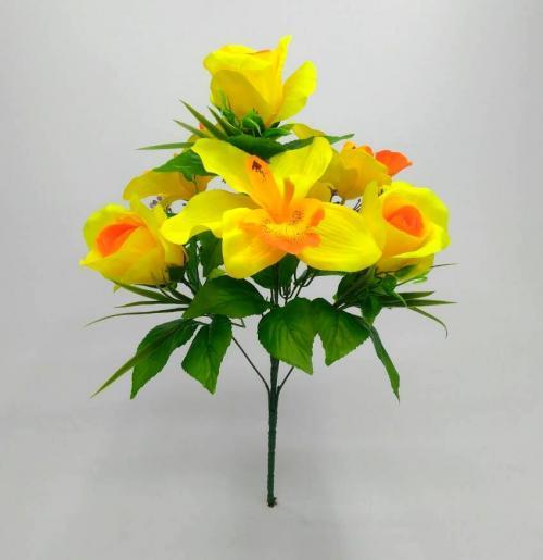 Искуственные цветы Роза - ирис 7-ка 897