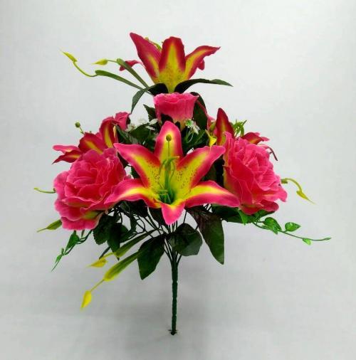 Искуственные цветы Декор роза - лилия 10-ка 898