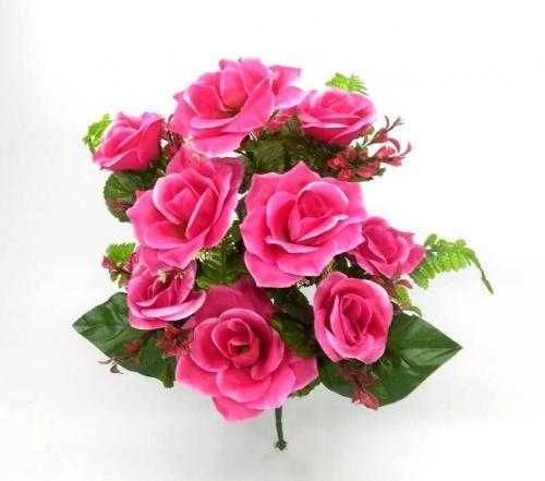 Искуственные цветы Роза - бутон 12-ка Н 900