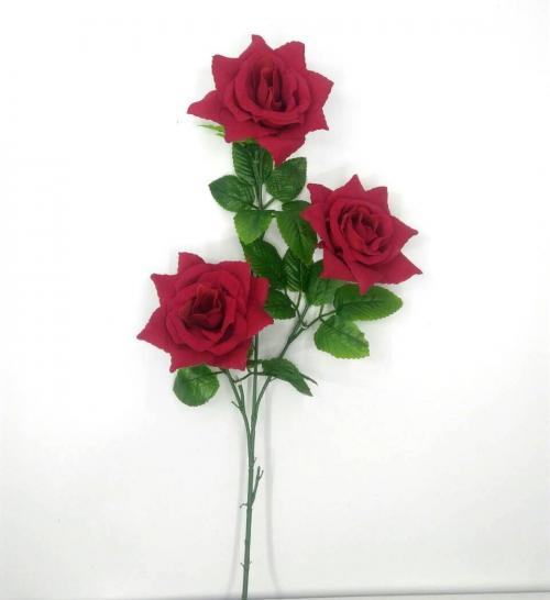 Искуственные цветы Роза бархат 3-ка 914