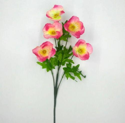 Искуственные цветы Мак 5-ка 915