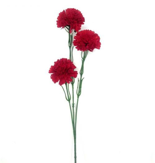 Искуственные цветы Гвоздика бархат 3-ка 917