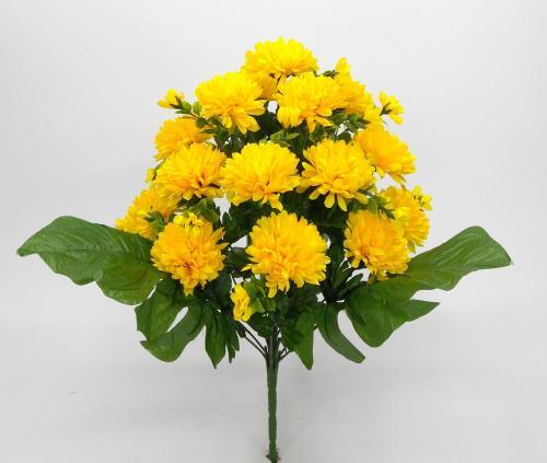 Искуственные цветы hrizantema-list-18-ka 928