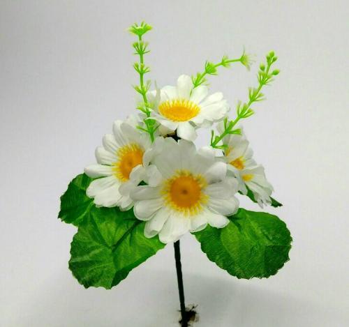 Искуственные цветы Ромашка белая 5-ка 935