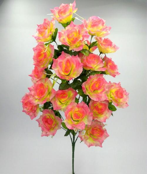 Искуственные цветы Роза большая 21 голова 939