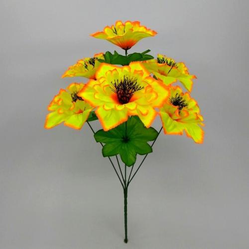 Искуственные цветы Мальва 6-ка н 942