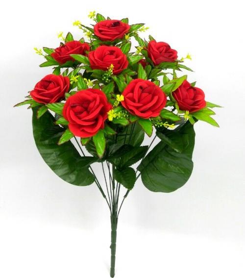 Искуственные цветы Роза бархат 11-ка 946