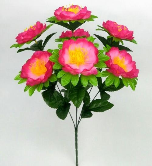 Искуственные цветы Пион лист не пресс 947