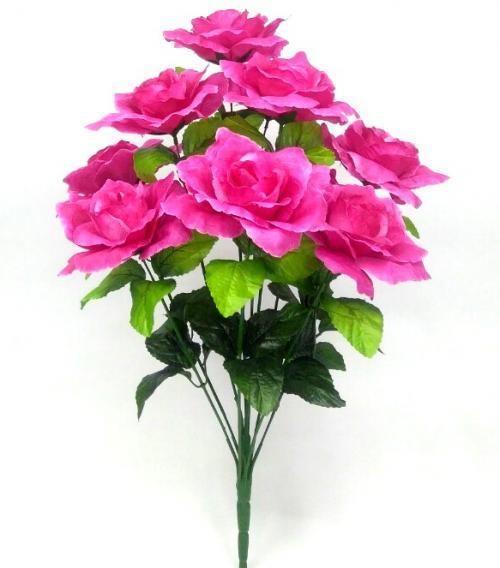 Искуственные цветы Роза 10-ка Большая 949