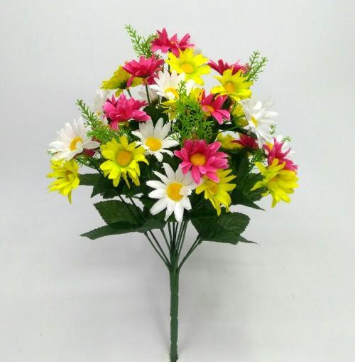 Искуственные цветы romashka-cvetnaya-miks