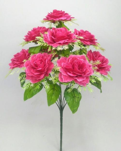 Искуственные цветы roza-9-ka-podstavka 983