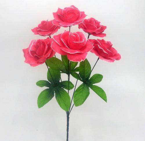Искуственные цветы Роза 6-ка новая 992
